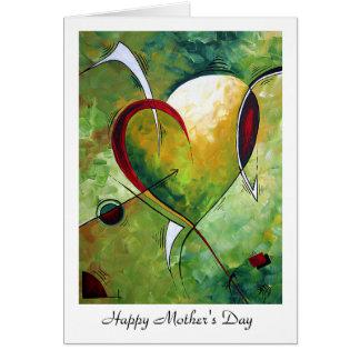 """Tarjeta Diseño """"sentido"""" feliz de MADART del día de madre"""