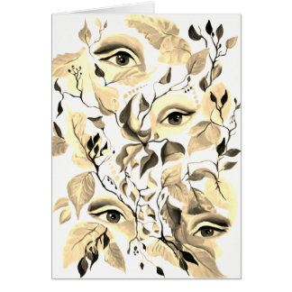 Tarjeta Diseño surrealista de los ojos de la sepia utópica