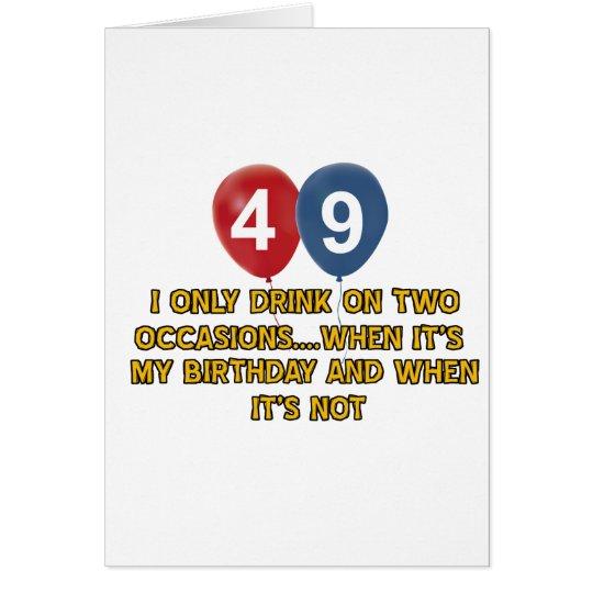Tarjeta diseños del cumpleaños de 49 años