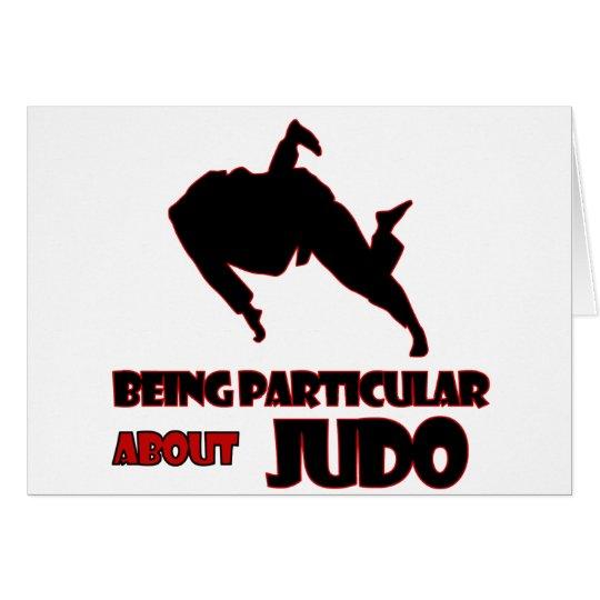 Tarjeta diseños del judo