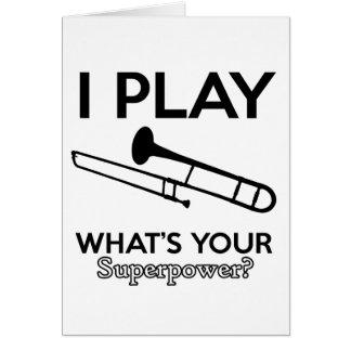 Tarjeta diseños del trombone