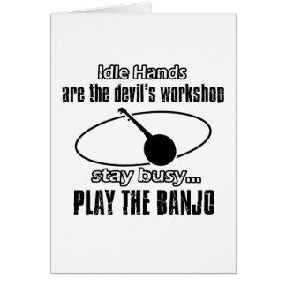 Tarjeta Diseños divertidos del banjo