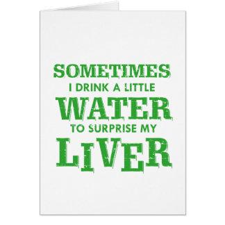Tarjeta Diseños divertidos del hígado