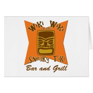 Tarjeta disimulada del bar y grill de Tiki