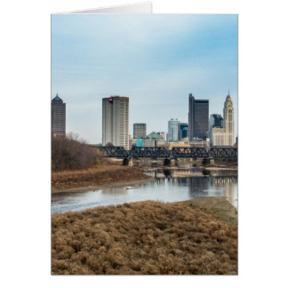 Tarjeta Distrito financiero central Columbus, Ohio