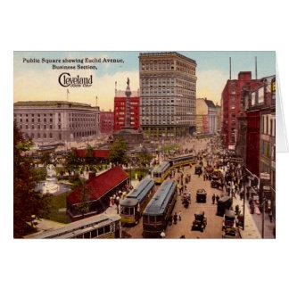 Tarjeta Distrito financiero de la avenida de Cleveland