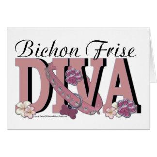 Tarjeta DIVA de Bichon Frise