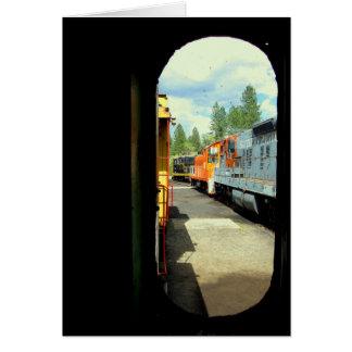 Tarjeta Diversión con los trenes