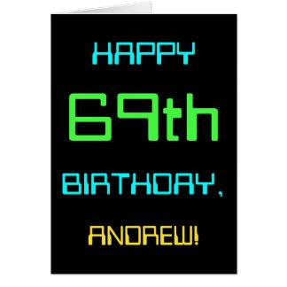 Tarjeta Diversión Digital que computa 69.o cumpleaños