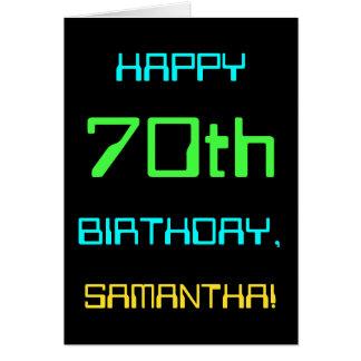 Tarjeta Diversión Digital que computa 70.o cumpleaños