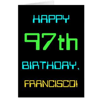 Tarjeta Diversión Digital que computa 97.o cumpleaños