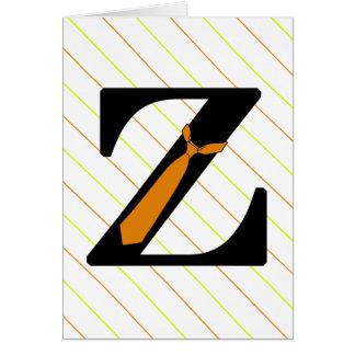 Tarjeta Diversión Z formal del monograma con el lazo