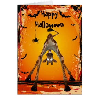 Tarjeta divertida caprichosa de Halloween de la