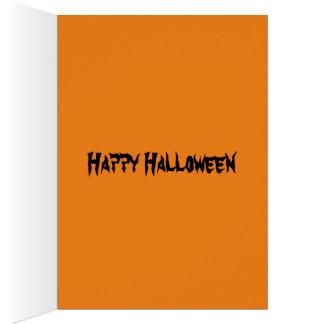 Tarjeta divertida de Florky Halloween