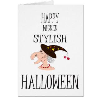 Tarjeta divertida de Halloween con estilo