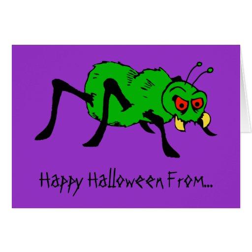 Tarjeta divertida de Halloween de la pesadilla de