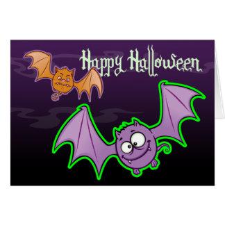 Tarjeta divertida de Halloween de los palos