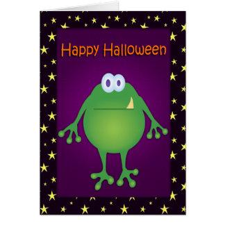 Tarjeta divertida de Halloween del monstruo de la