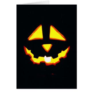 Tarjeta divertida de Halloween, mueca de la linter