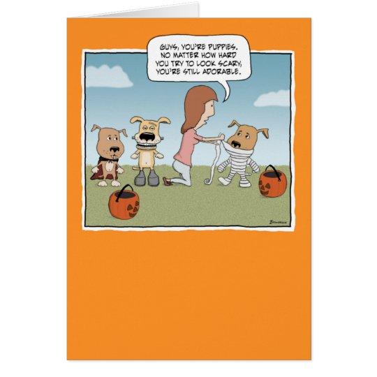 Tarjeta divertida de Halloween: Perritos