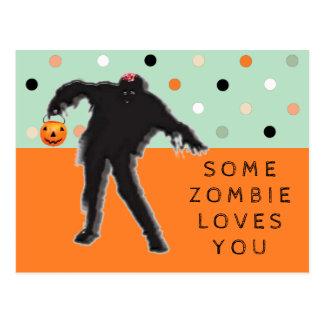tarjeta divertida de Halloween Postal