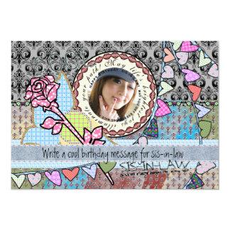 Tarjeta divertida de la foto de la plantilla del invitación 12,7 x 17,8 cm