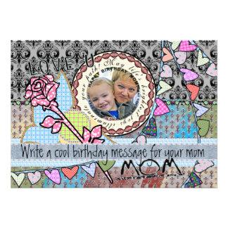 Tarjeta divertida de la foto de la plantilla del invitación personalizada