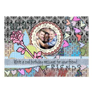 Tarjeta divertida de la foto de la plantilla del invitaciones personalizada