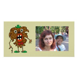 tarjeta divertida de la foto del monstruo del Abet Tarjeta Fotografica