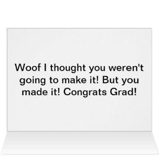 Tarjeta divertida de la graduación del dogo