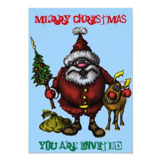Tarjeta divertida de la invitación del navidad