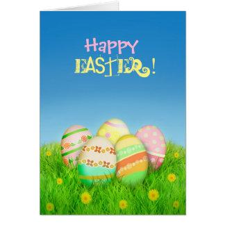 Tarjeta divertida de los huevos de Pascua