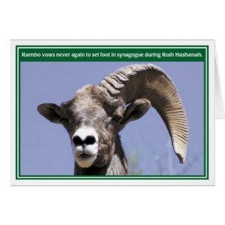 Tarjeta divertida de Rambo Rosh Hashanah