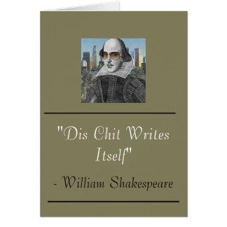Tarjeta divertida de William Shakespeare