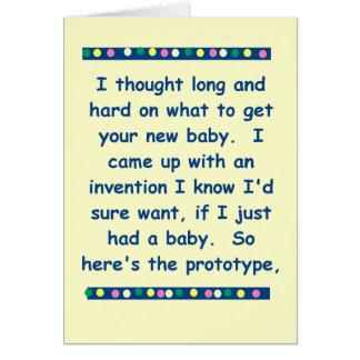 Tarjeta divertida del bebé