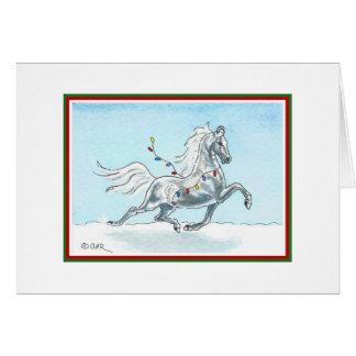 Tarjeta divertida del caballo del navidad