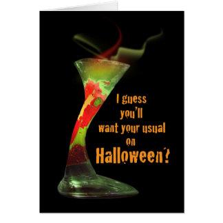Tarjeta divertida del cóctel de Halloween