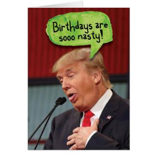 Tarjeta divertida del cumpleaños desagradable de