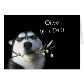 Tarjeta divertida del día de padre del perro