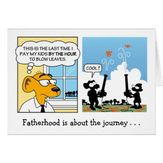 Tarjeta divertida del día de padre: Paternidad