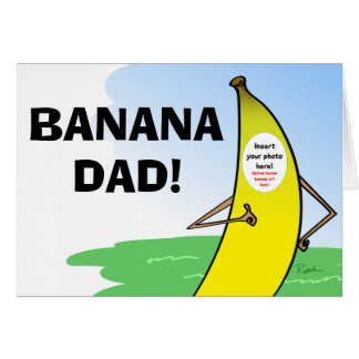 Tarjeta divertida del día de padres del plátano,