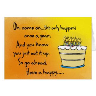 Tarjeta divertida del feliz cumpleaños