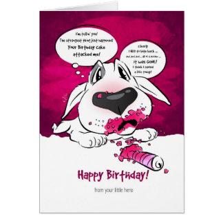 "Tarjeta divertida ""feliz cumpleaños "" del dibujo"