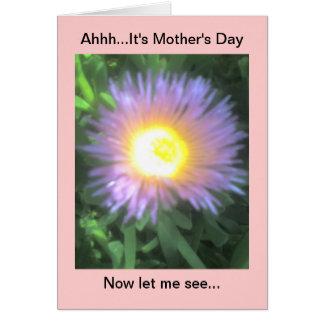 Tarjeta divertida feliz del día de madre