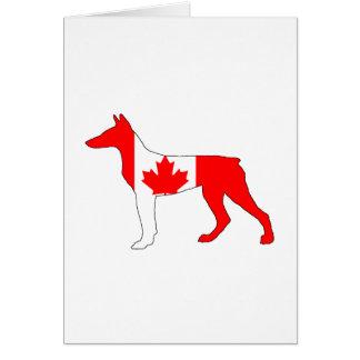 Tarjeta Doberman Canadá
