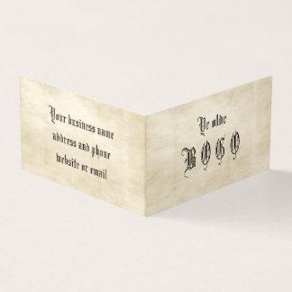 Tarjeta doblada lealtad del pergamino BOGO del