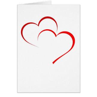 Tarjeta doble del corazón