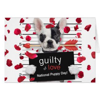 Tarjeta Dogo francés del el día de San Valentín