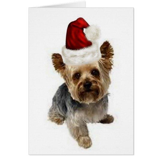 Tarjeta Dogs~Original Ditzy Notecard~Yorkie~Christmas