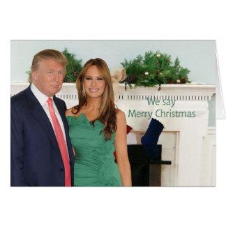 Tarjeta Donald y Melania: ¡Decimos Felices Navidad!